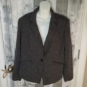 French Connection 16 one button blazer jacket